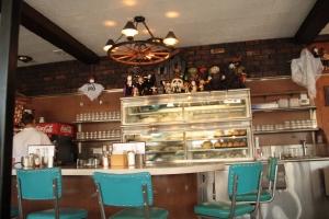 Dessert case and bar